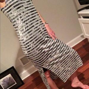 Kenneth Cole striped maxi dress